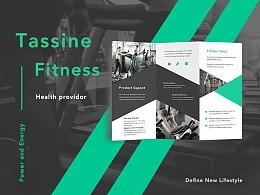 Tassine Fitness健身房三折页-2017年9月