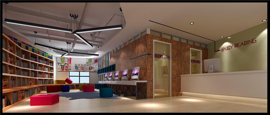 教育空间装修,培训机构设计|室内设计|空间/建筑|李