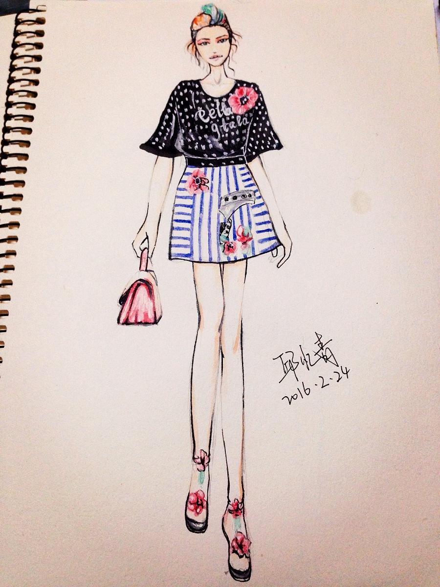 服装手绘插画|休闲/流行服饰|服装|mewxiaoyun - 原创