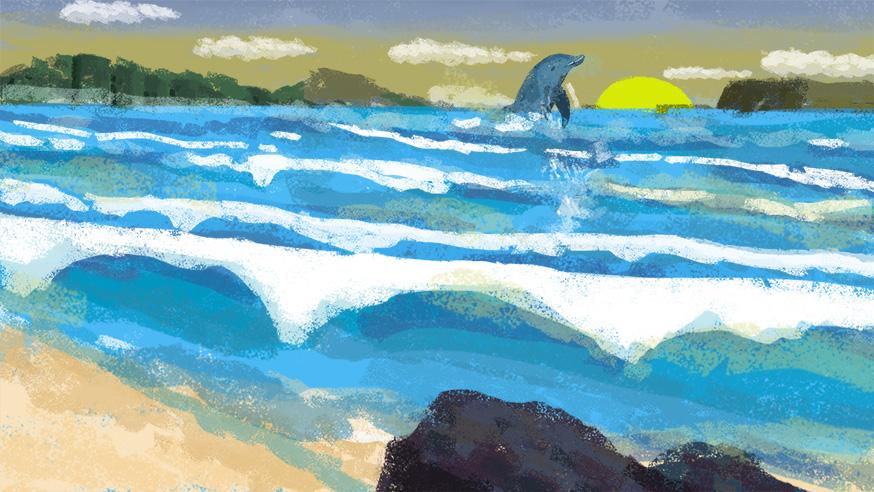 原创作品:海洋主题儿童绘本图片