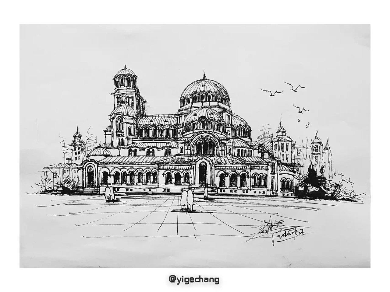 建筑 手绘|插画|插画习作|壹个畅 - 原创作品 - 站酷