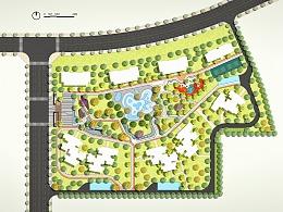 建筑配的景观平面图