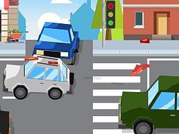 广州交警《通过路口要减速》宣传MG动画