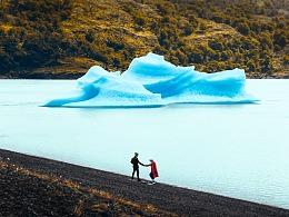 天空和湖水之间,还有一种无限接近透明的蓝