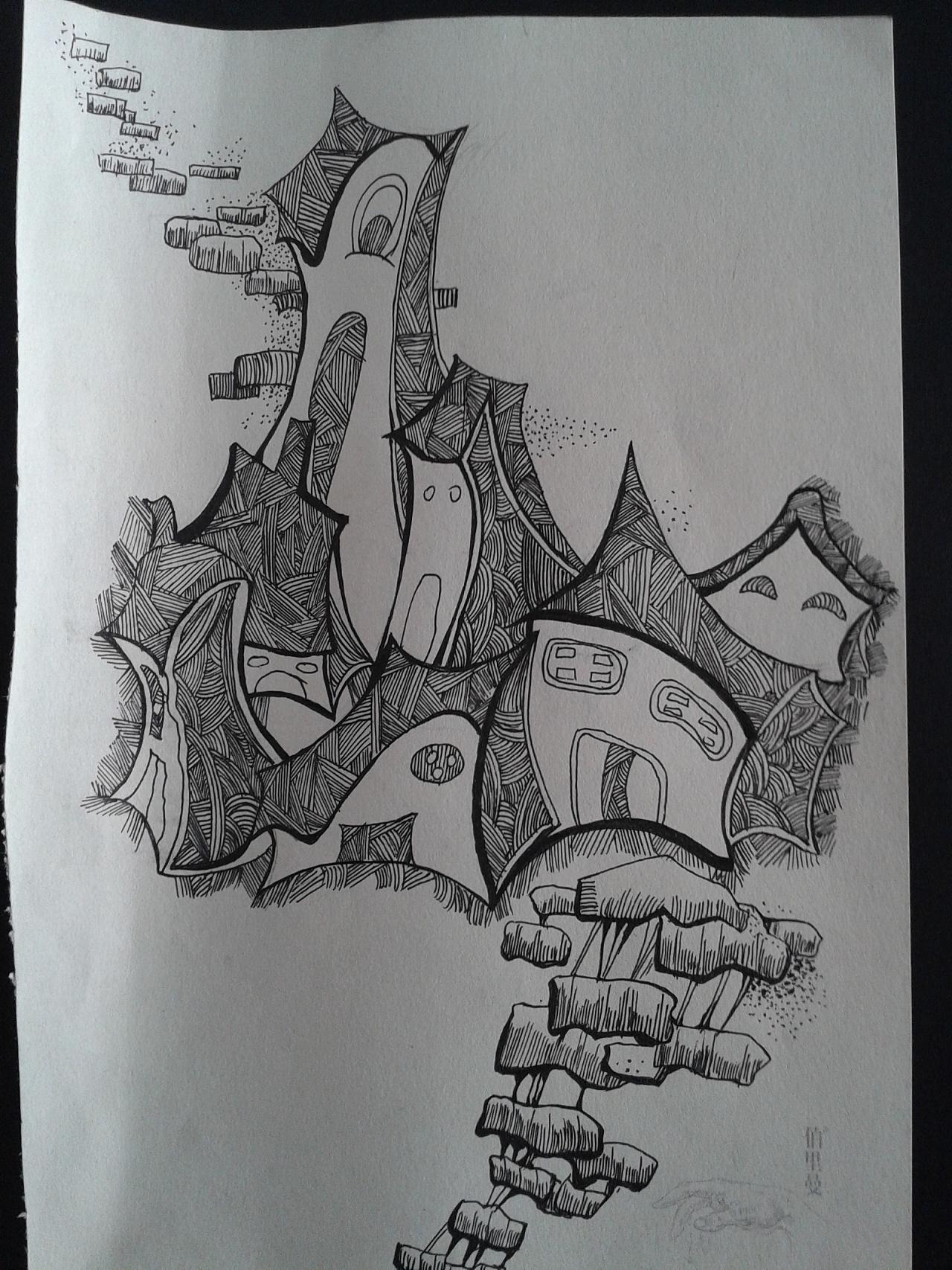 创意素描图片