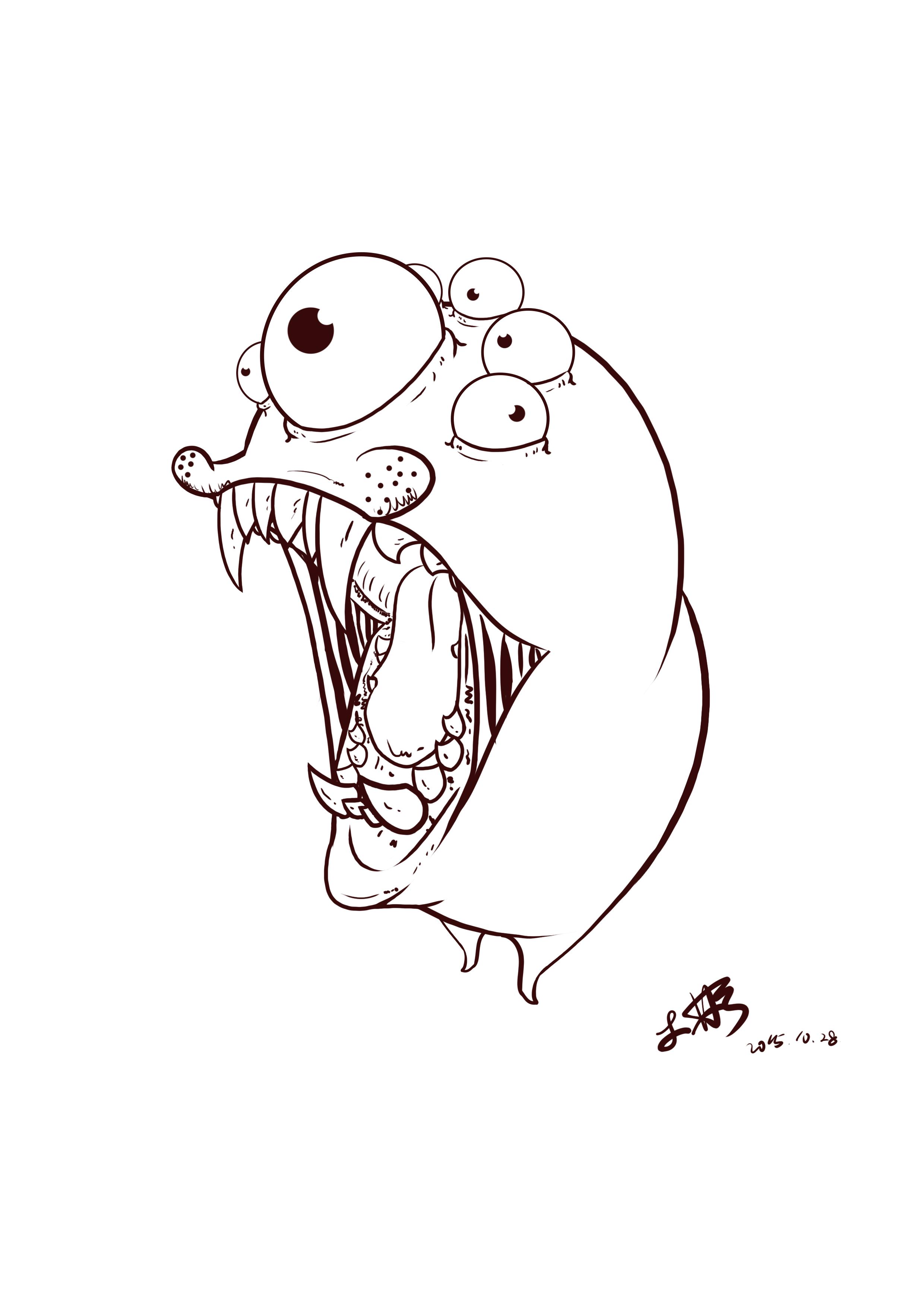 动漫 简笔画 卡通 漫画 手绘 头像 线稿 2480_3508 竖版 竖屏