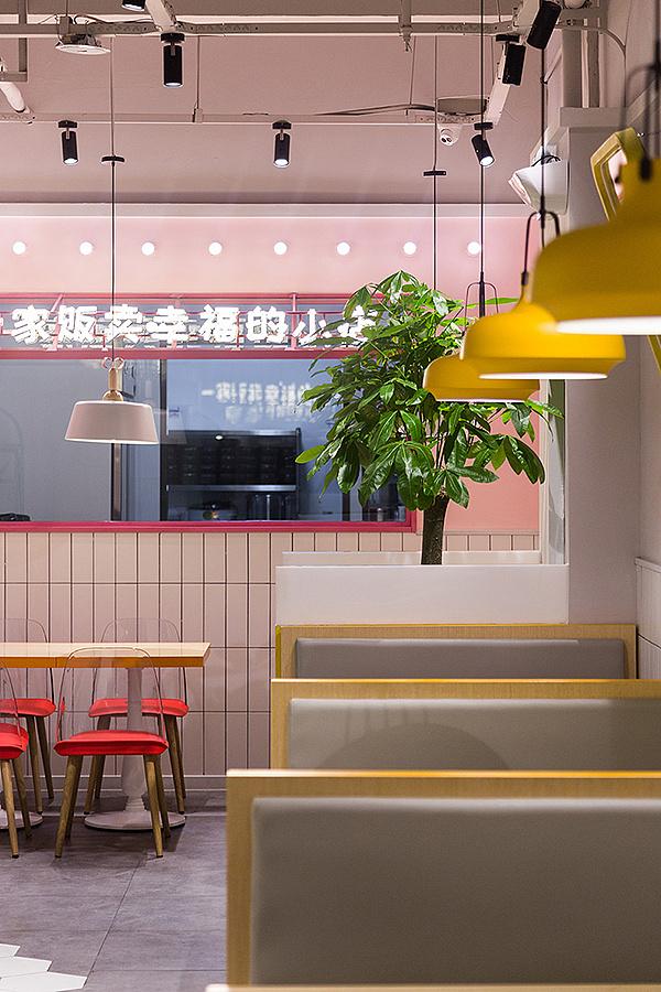 轻快餐店 · 餐饮空间设计_叁肆吾骨汤土豆粉 西安店