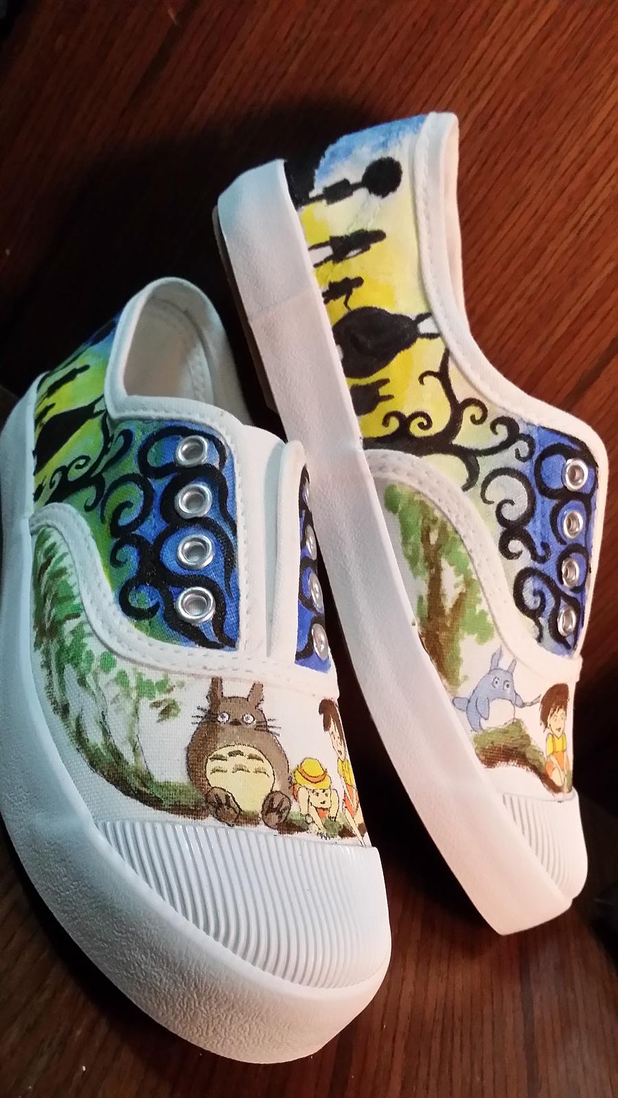 手绘鞋子|鞋类|服装|箐蛙