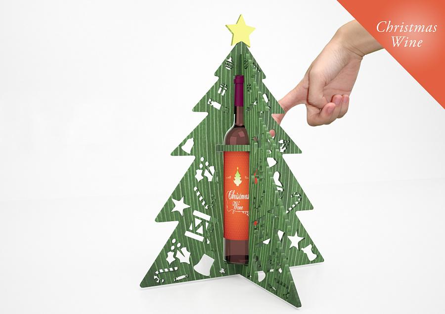 (1)仿生设计,以圣诞树为原形包装盒
