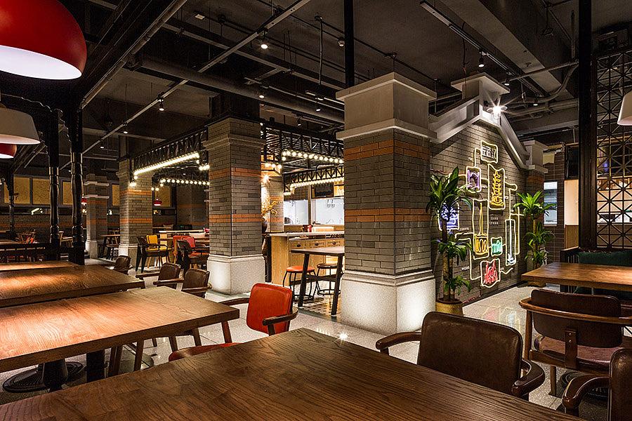 正餐店 · 餐饮空间设计_汉厨 深圳车公庙店