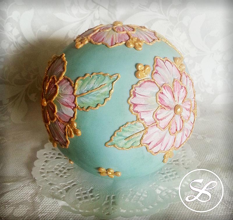 意式翻糖手绘蛋糕