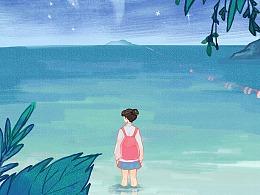 【插画】那年夏天宁静的海