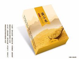 食品粮食五谷杂粮小米大米包装设计平面设计