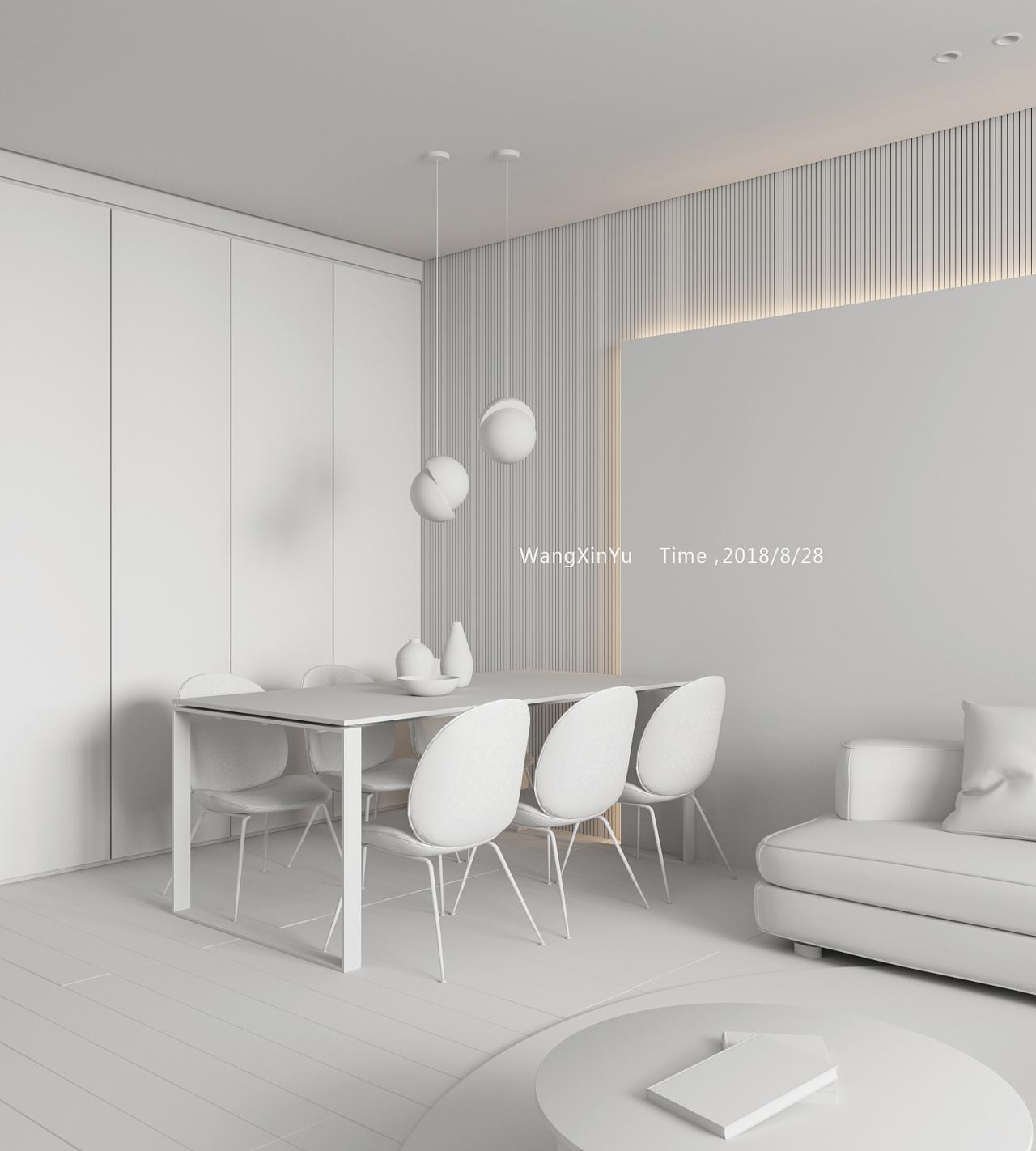 CR渲染|空间|室内设计|王鑫宇s-原创作品-站和风物语布局设计图图片