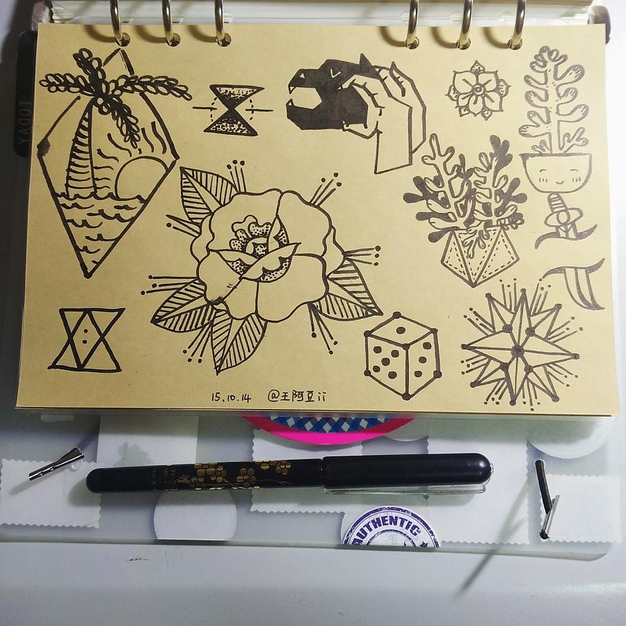 日常手绘纹身稿