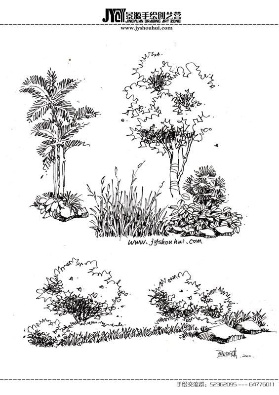 线描手绘|园林景观\/规划|空间\/建筑|艺鸣Design