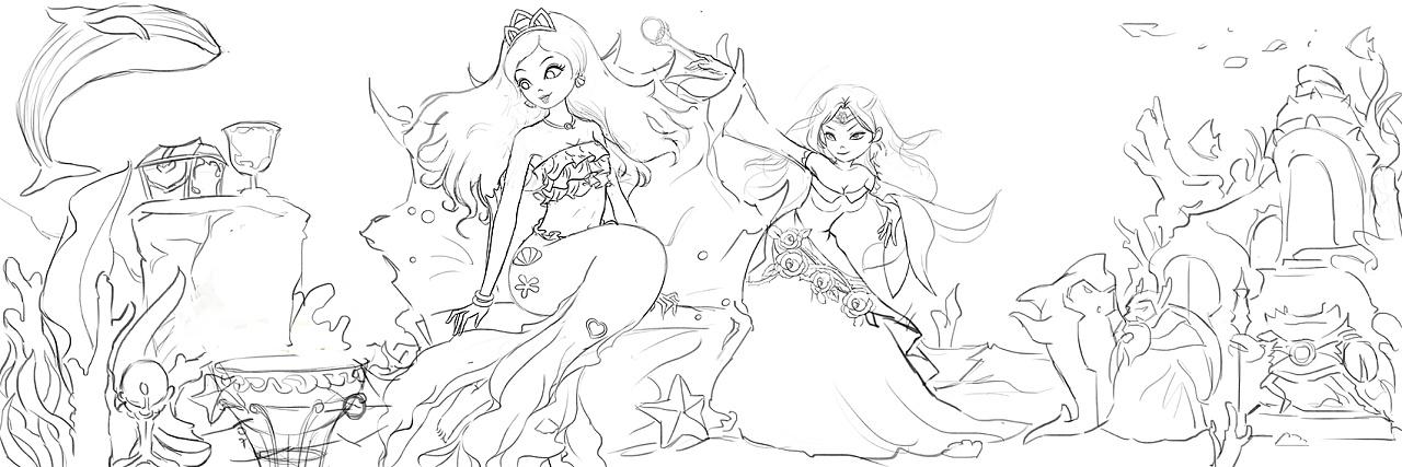 人鱼公主插画设计分享