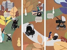 《推车品牌插画-于2018年德国科隆展展出》