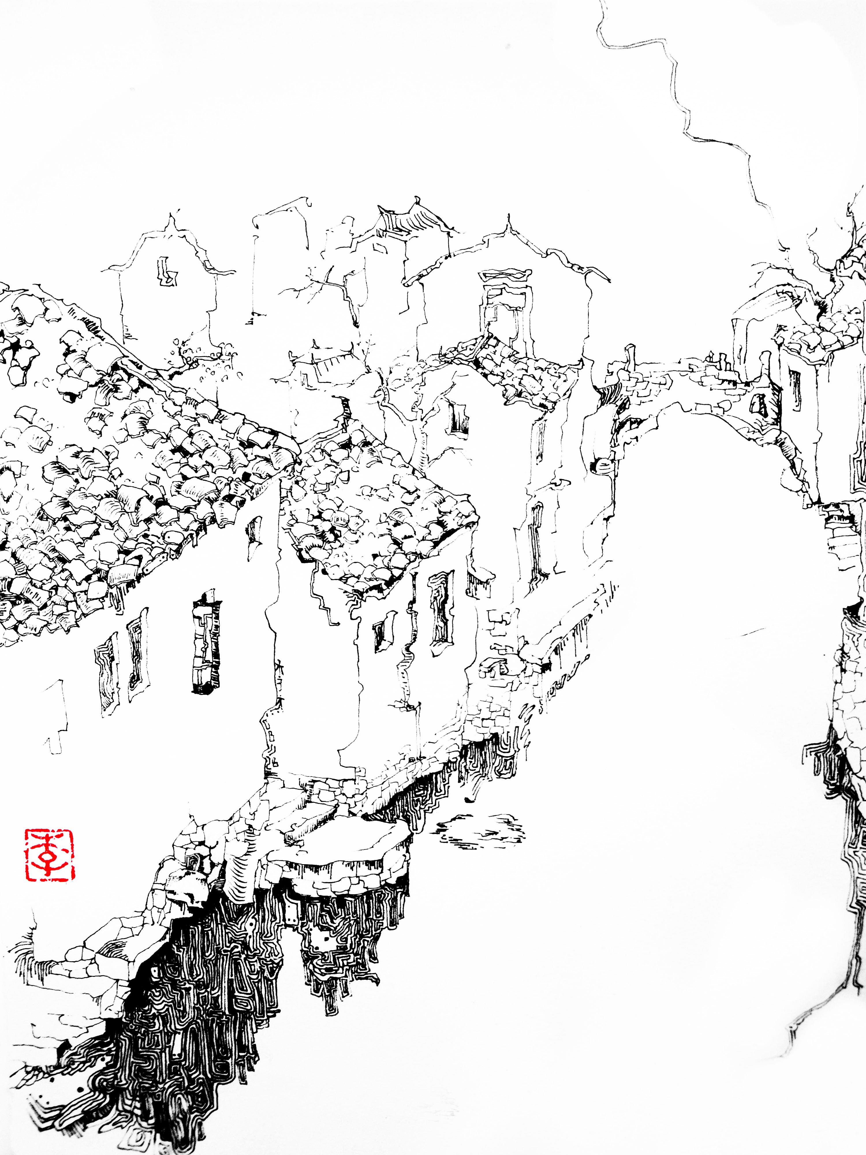 简笔画 手绘 线稿 3000_4000 竖版 竖屏