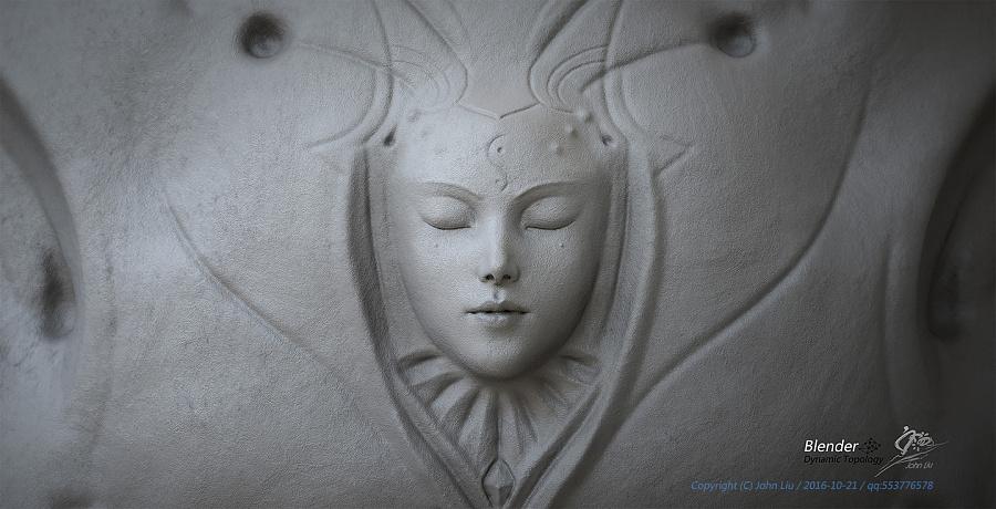 查看《Blender动态雕刻极限测试作品-双生头骨》原图,原图尺寸:1440x736