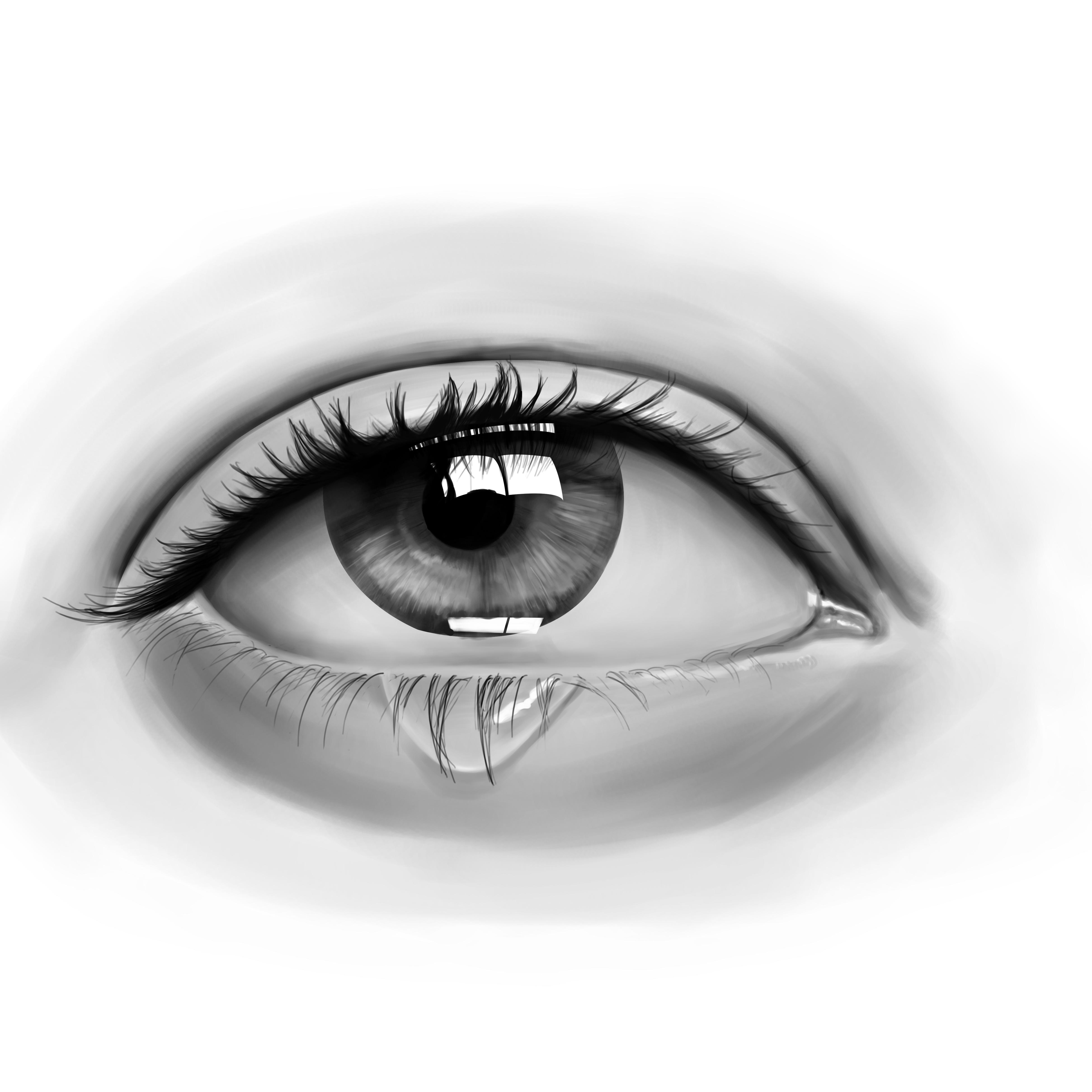 """我的手绘学习过程,第六张手绘""""眼睛练习"""""""