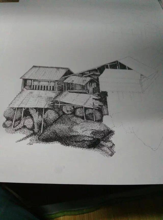 创意针管笔画