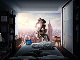 创意合成海报《一起去冒险》
