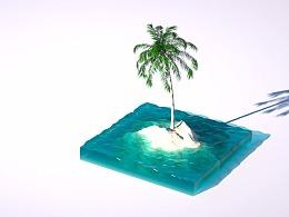 海岛椰树动画
