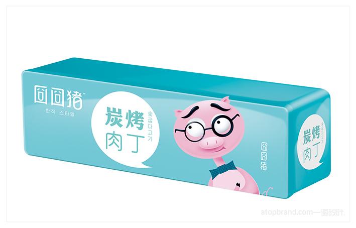 一道设计原创——囧囧猪|休闲食品品牌打造