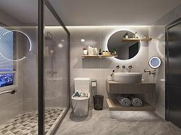 新中式卫生间设计