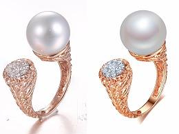 部分珍珠镶嵌款白底拍摄及修图