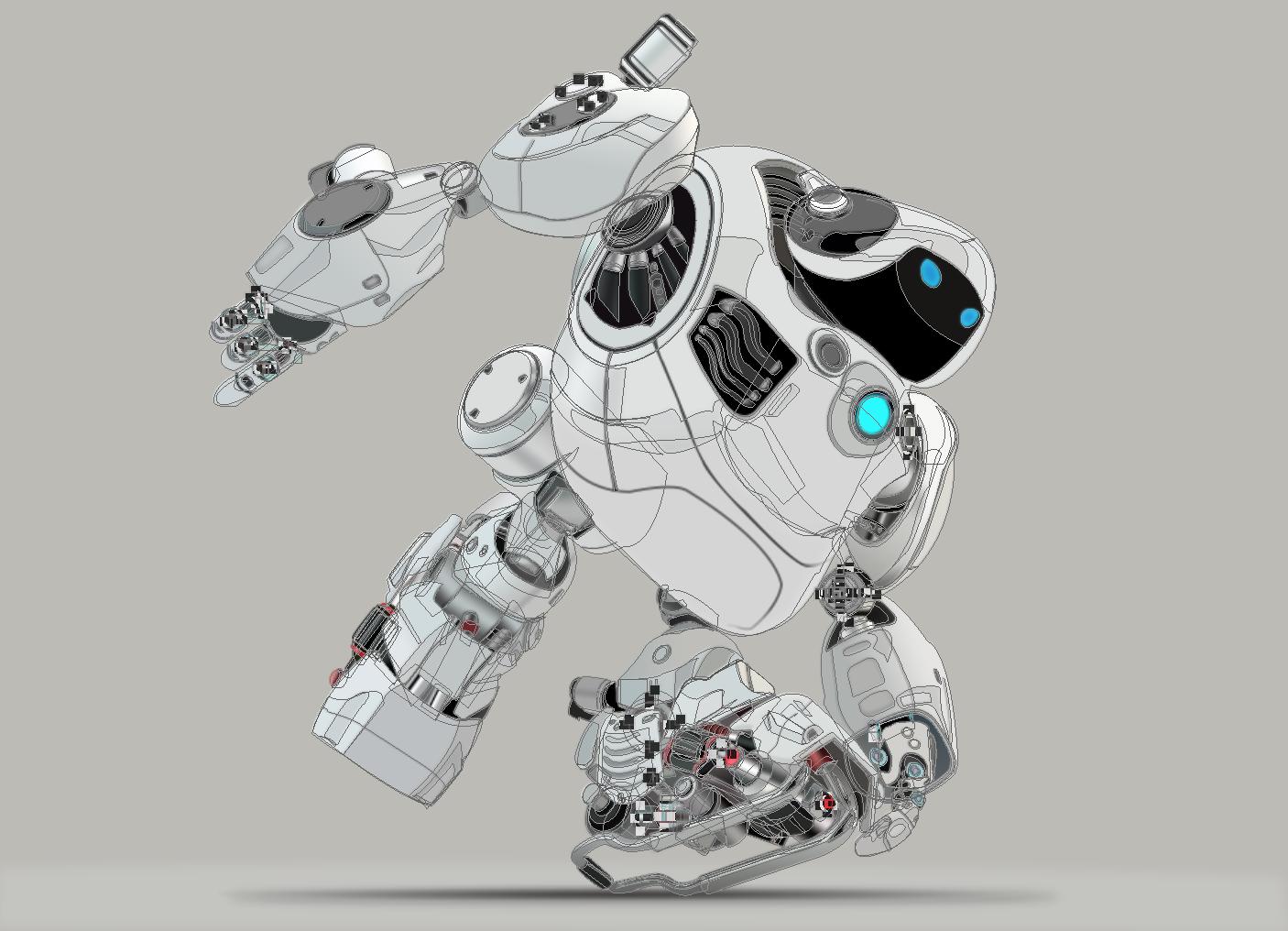 机器人ps临摹