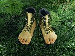 如何PS创建逼真的脚灵感在中远足靴子