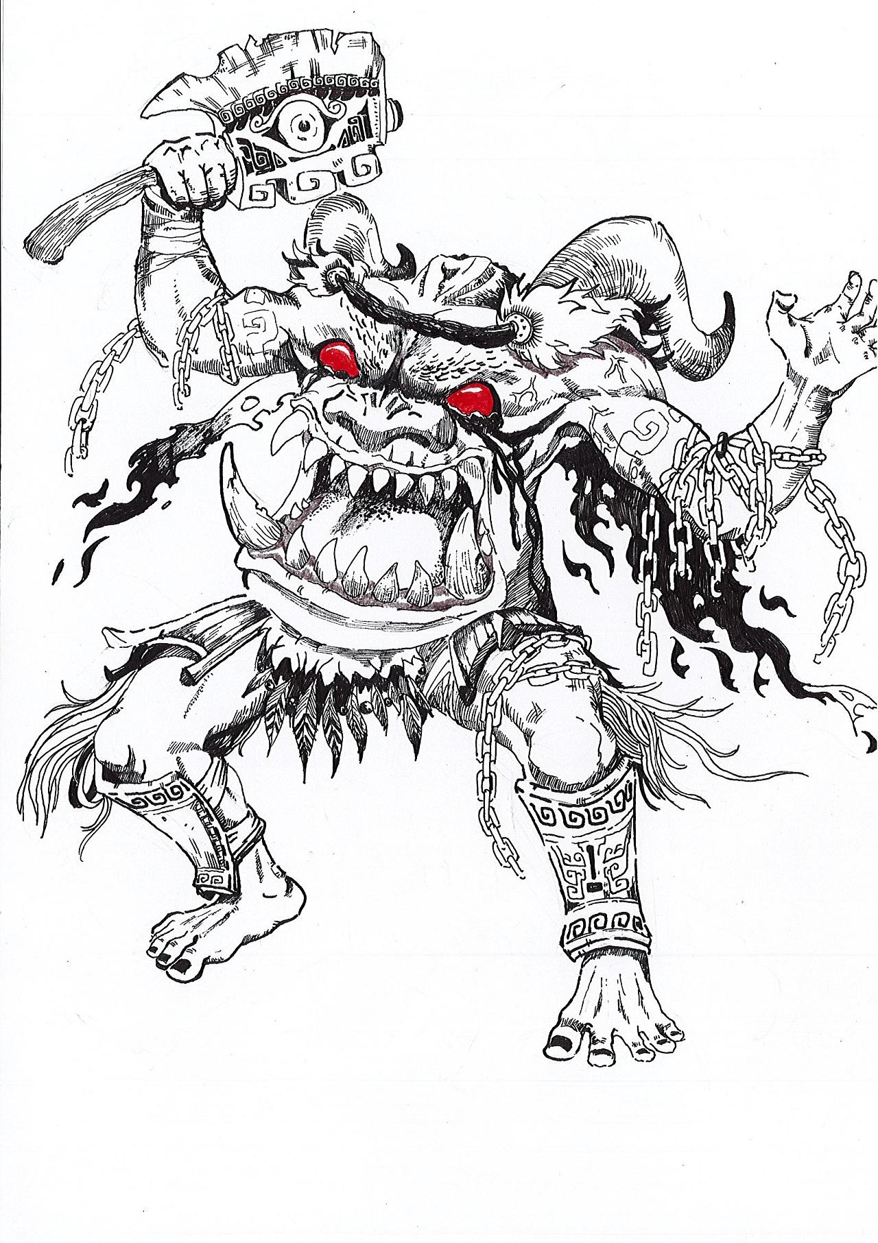 个人作品-手绘《十二生肖武将》