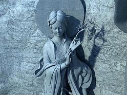斑马cg石窟雕塑设计