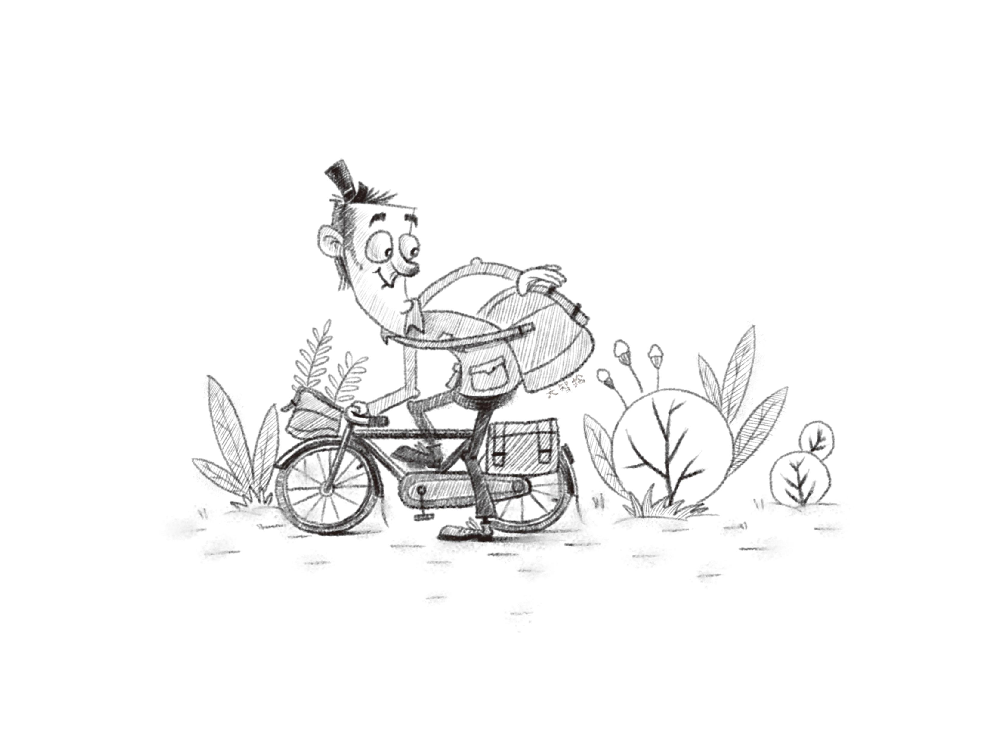 儿童插画素描作品
