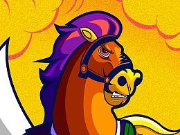 HORSE-涂鸦插画