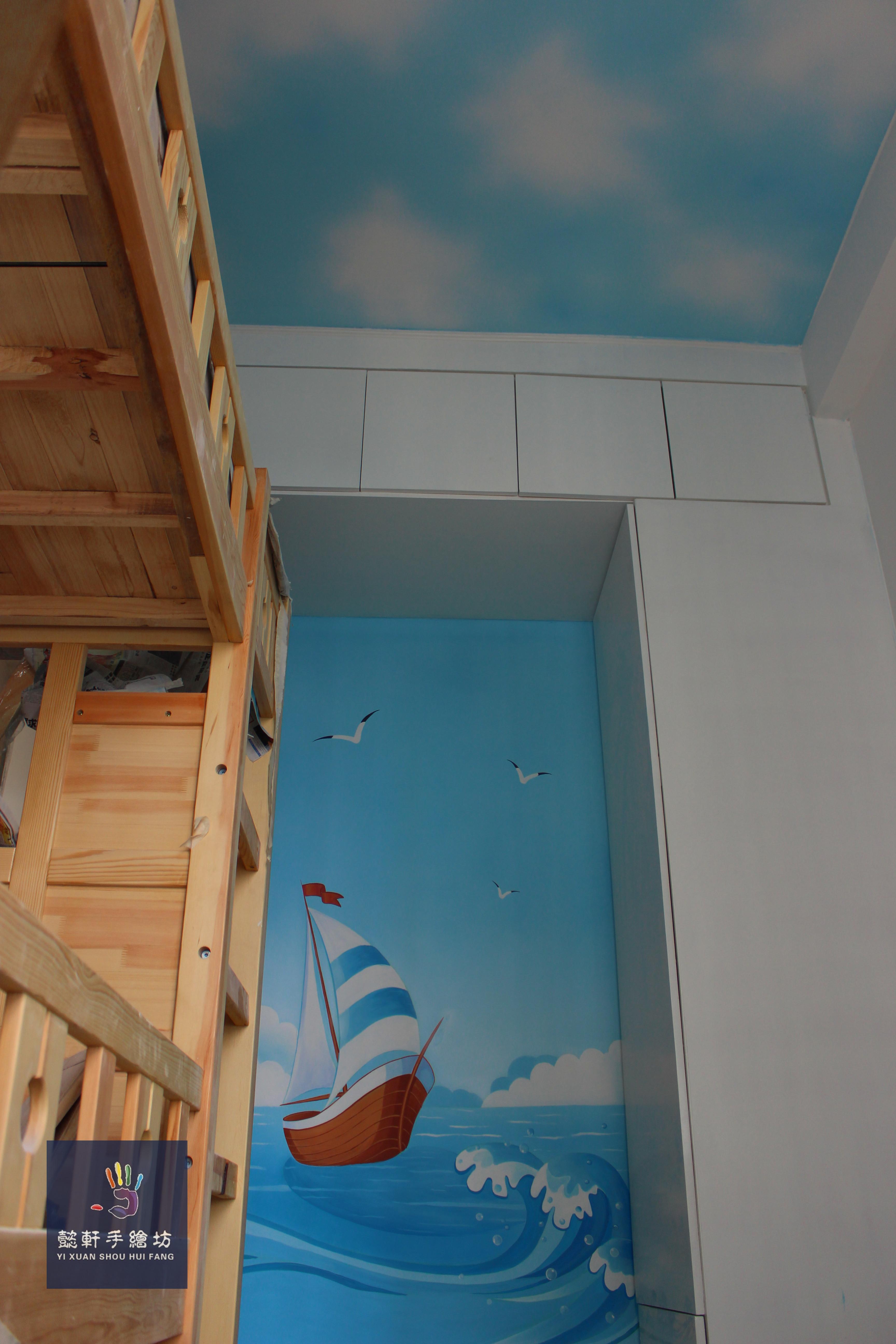 儿童房 其他 墙绘/立体画 懿轩手绘墙 - 原创作品