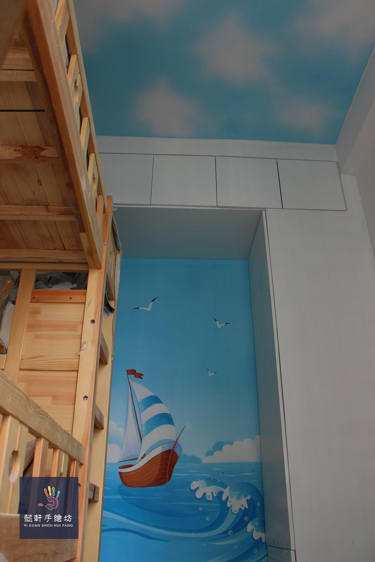儿童房|其他|墙绘/立体画|懿轩手绘墙 - 原创作品