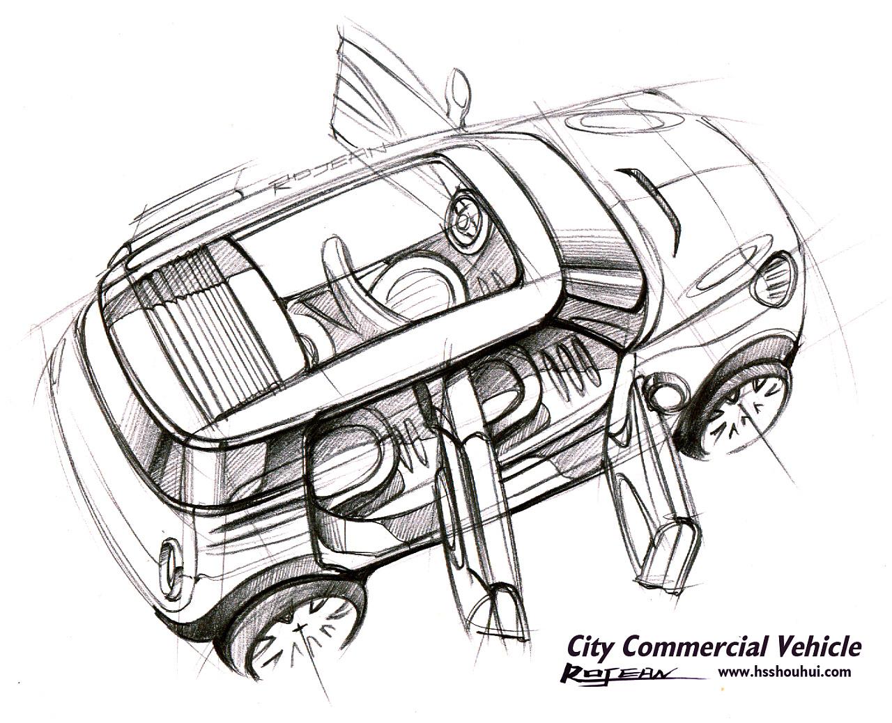 工业产品,交通工具设计手绘-罗剑