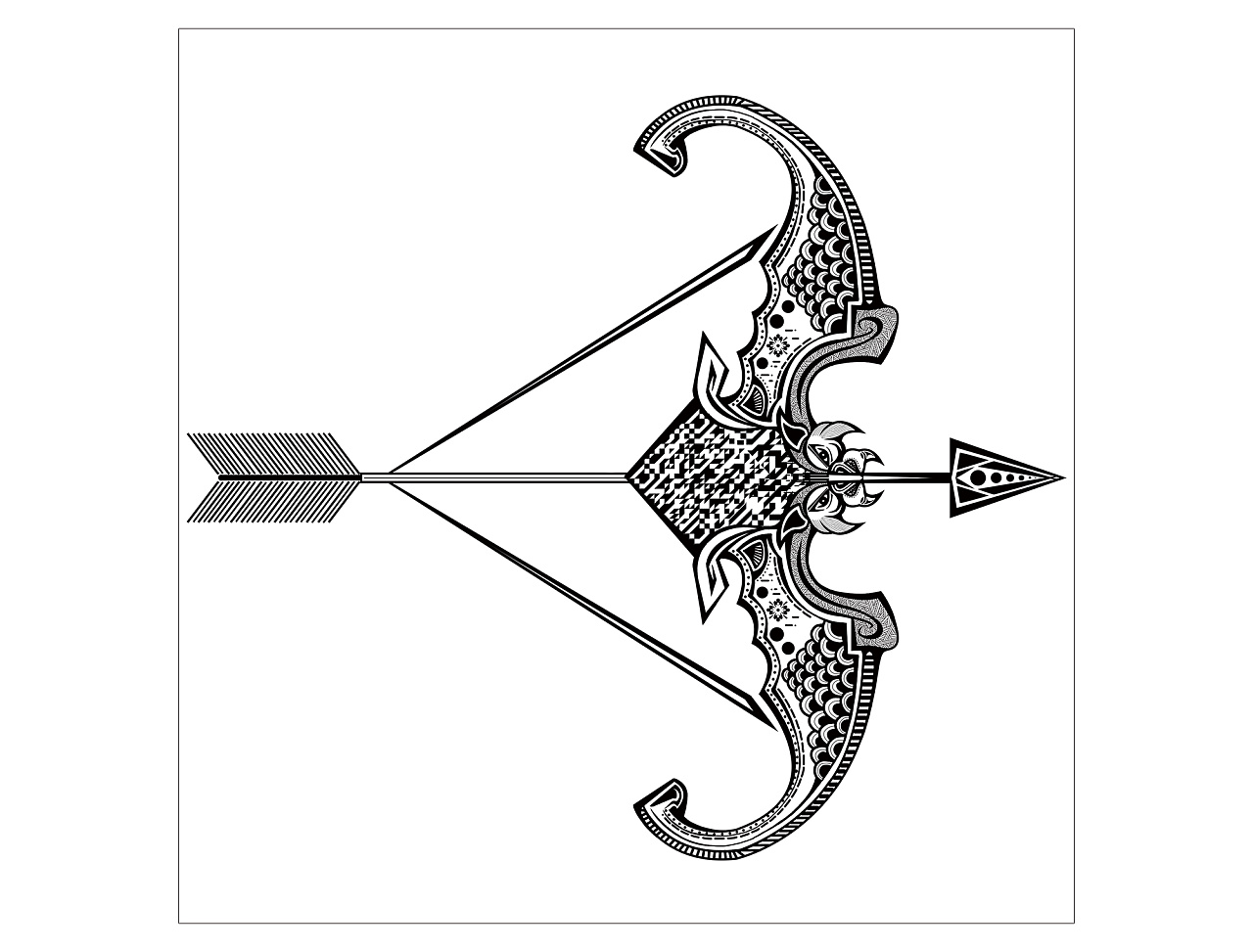 手绘十二星座与创意二维码相结合