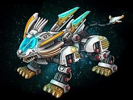 【板绘】超重剑长牙狮-ZOIDS索斯机械兽