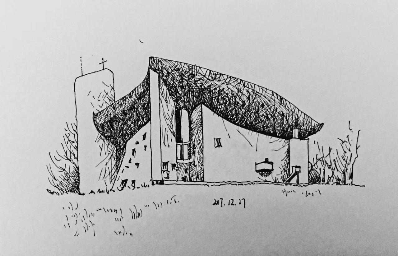 建筑速写|空间|建筑设计|三秋吖 - 临摹作品 - 站酷图片