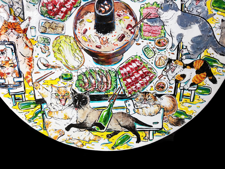 群猫涮火锅