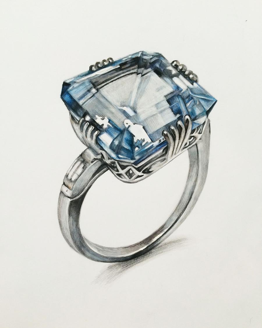 手绘珠宝首饰设计图展示