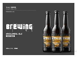 精酿啤酒包装瓶贴设计