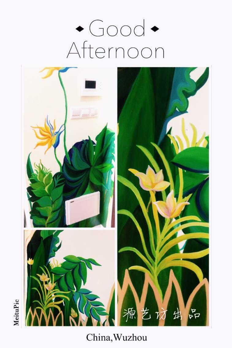室内装修设计手绘壁画|商业插画|插画|yukilinaw