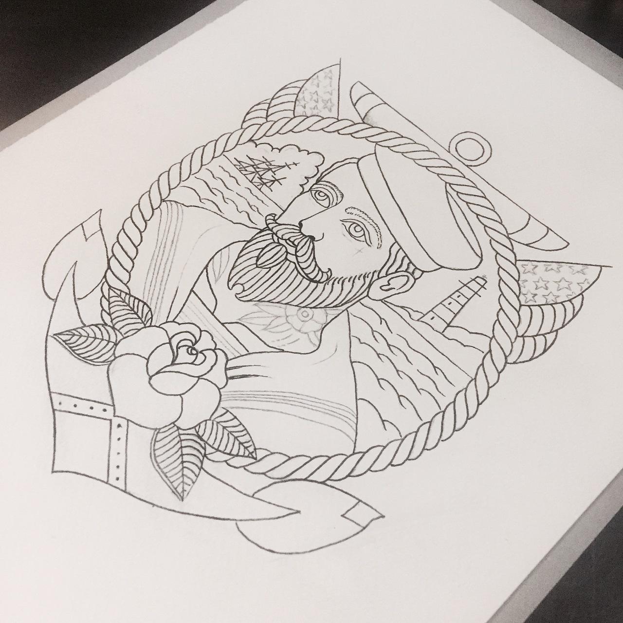 old school|插画|其他插画|叁石刺青 - 原创作品图片