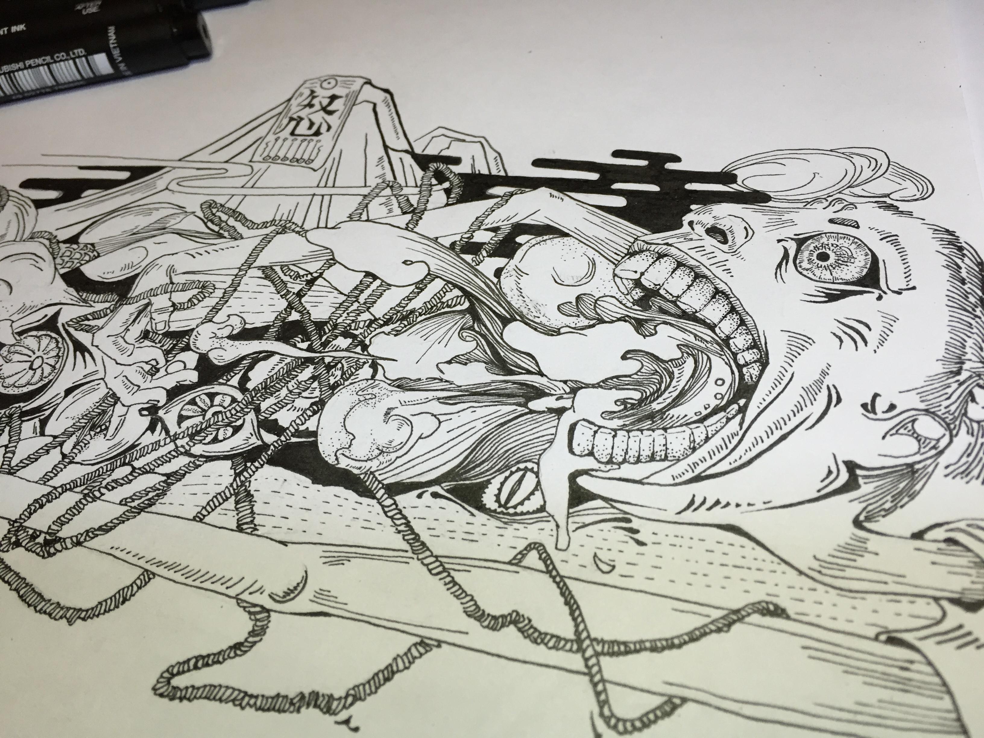 手绘板和针管笔