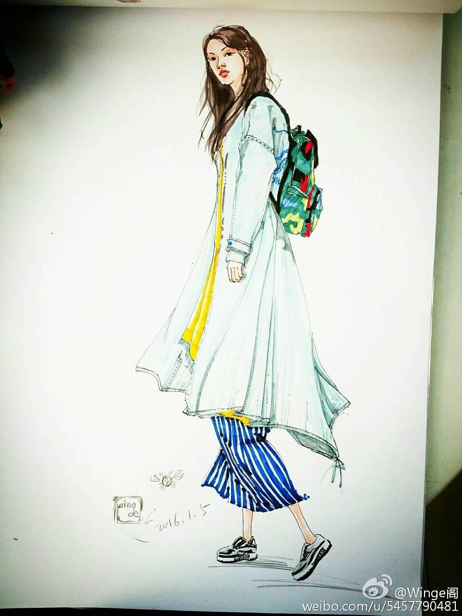 手绘服装效果图|其他服装|服装|winge阁